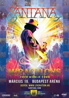 Tavasszal az Arénában játszik Carlos Santana